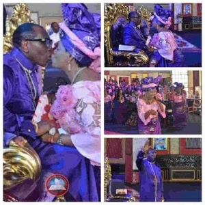 Pastor Oritsejafor And Wife Kiss Passiontely During Church Service [Photos]